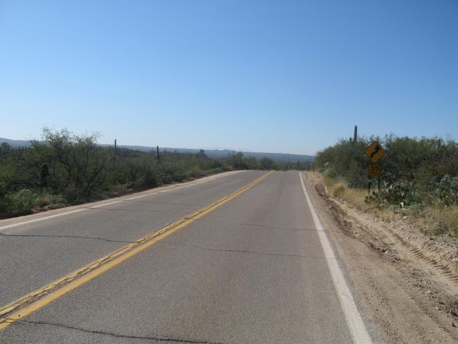 W towards Tucson