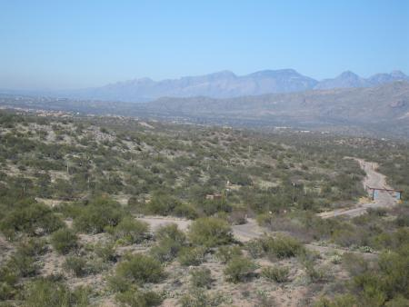 Looking SW from Colossal Cave