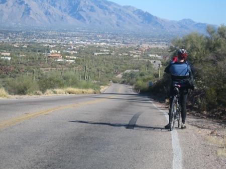 Vin looking at Catalina Mtns