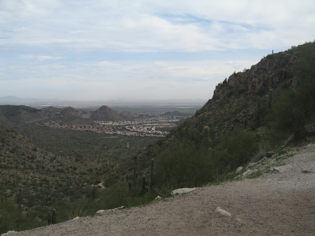 View towards Chandler from S Mtn