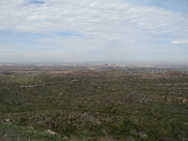 View of Phoenix from Telegraph Pass Rd