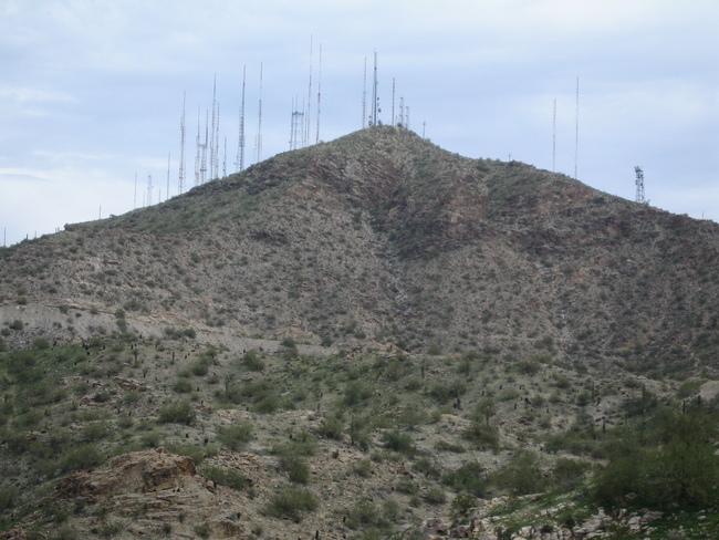 Antennas atop S Mtn