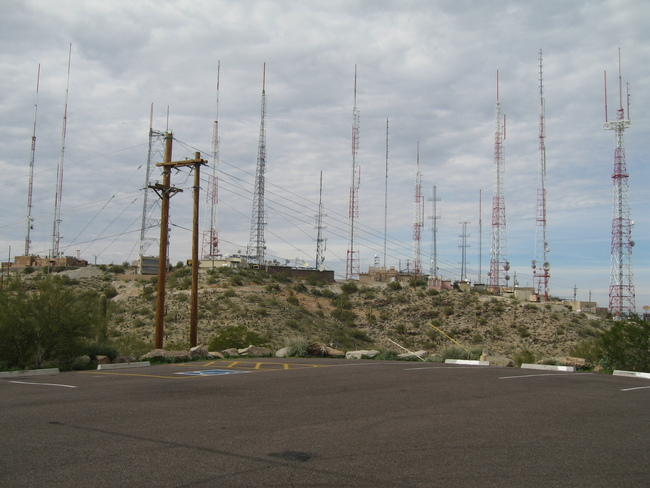 Looking back at the antennas