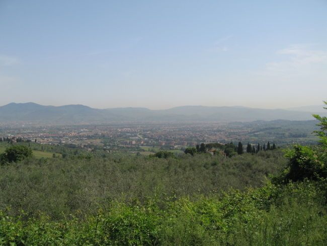Looking back towards Florence