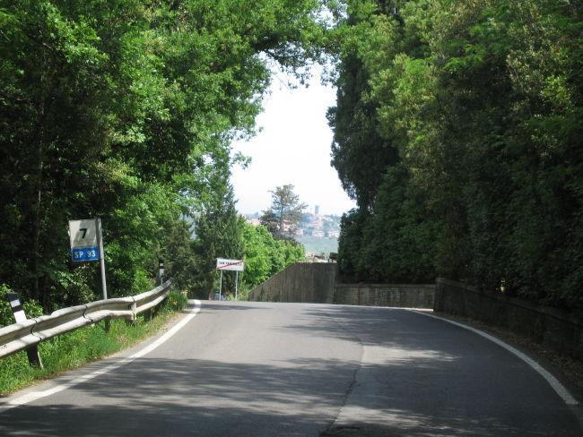 Descending from San Pancrazio