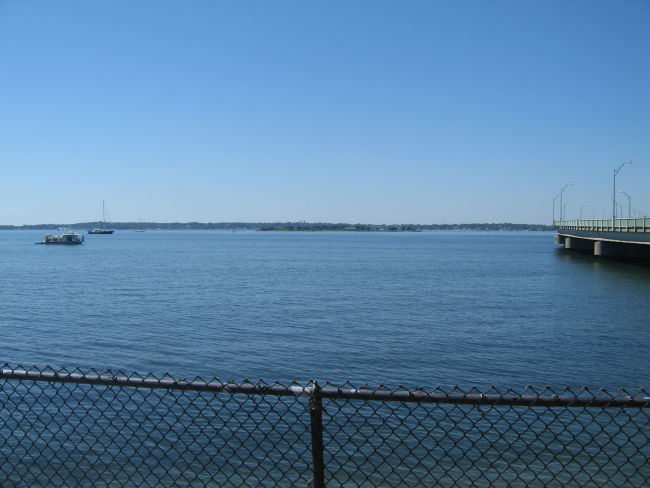 Rose Is in foreground; Jamestown Is in background