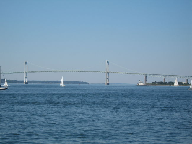 Newport Bridge from Ft Adams