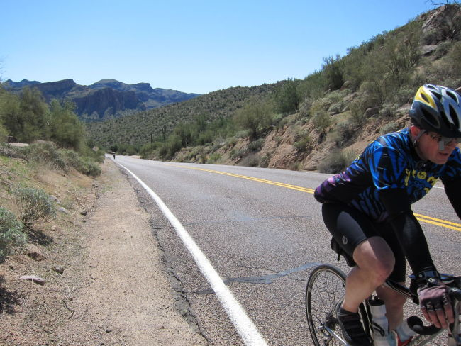 Lake climb before Saguaro Lake