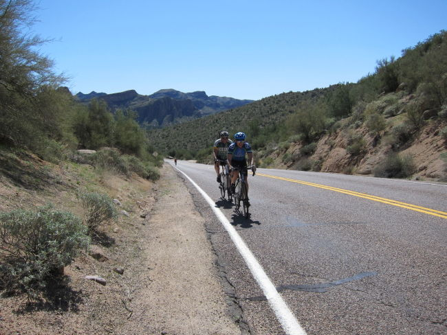 Last climb before Saguaro Lake