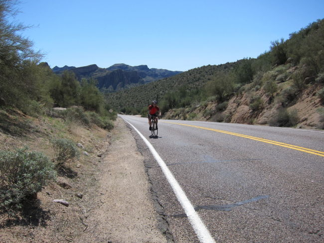 Last climb before Saguaro Lake