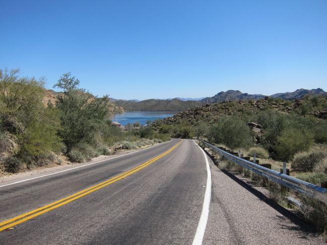 Approaching Saguaro Lake