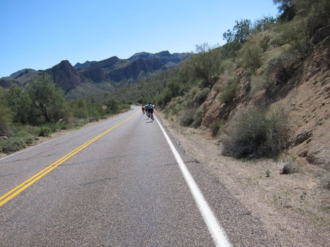 Bush Hwy leaving Saguaro Lake