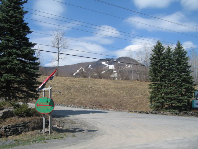 Ski slopes on Hunter Mtn